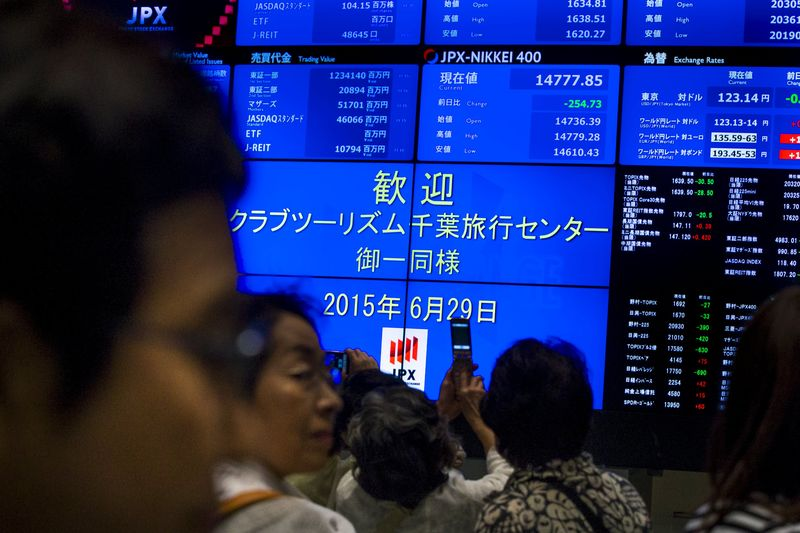 © Reuters.  Japan stocks higher at close of trade; Nikkei 225 up 0.31%