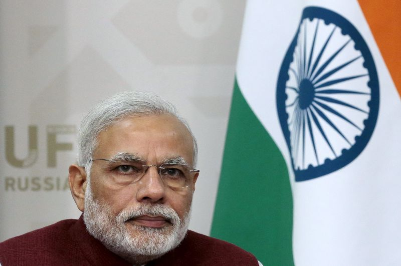 © Reuters.  PM Modi says India may announce tax relief for traders next week