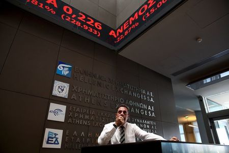 Greece stocks lower at close of trade; Athens General Composite down 1.24%