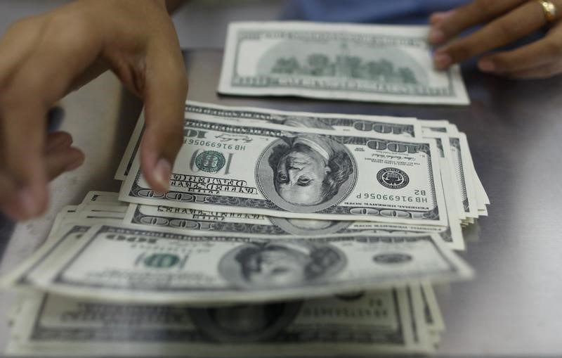 © Reuters.  The dollar edged down on Tuesday.