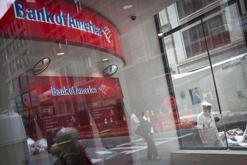 © Reuters. Bank of America Stock Falls 3%
