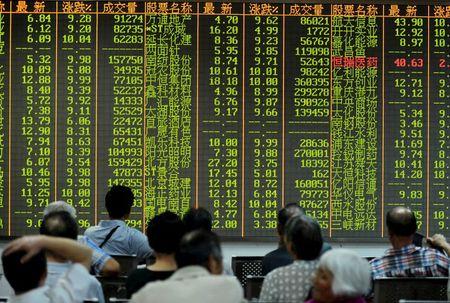 中国股市收低;截至收盘上证指数下跌0.18%