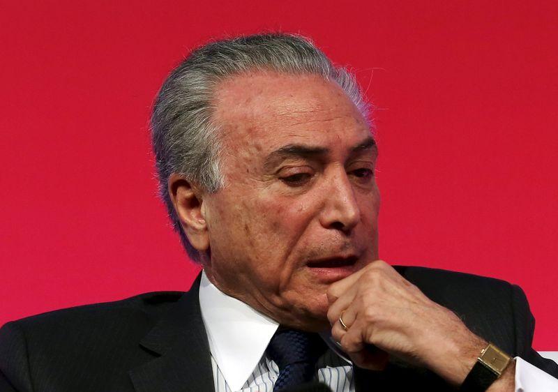 © Reuters.  Brasile, testimonianza accusa presidente Temer di aver preso tangenti per 4,6 mln dlr