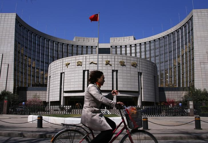 © Reuters.  China Reserves Steady as Yuan Declines Fail to Trigger Outflows