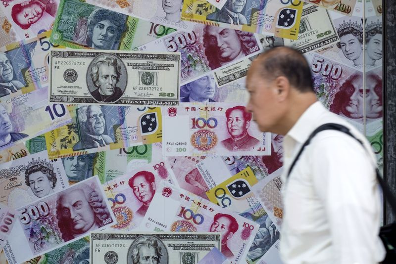 © Reuters.  The U.S. dollar was flat on Friday morning in Asia
