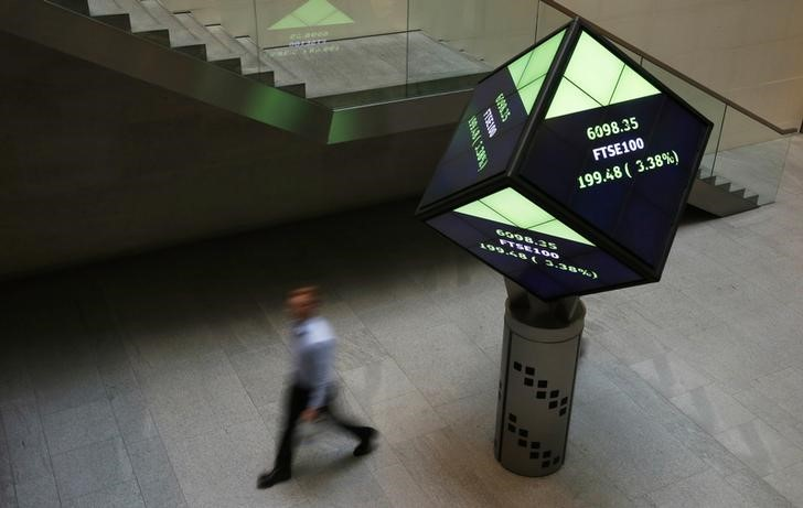 © Reuters.  U.K. stocks higher at close of trade; Investing.com United Kingdom 100 up 0.02%