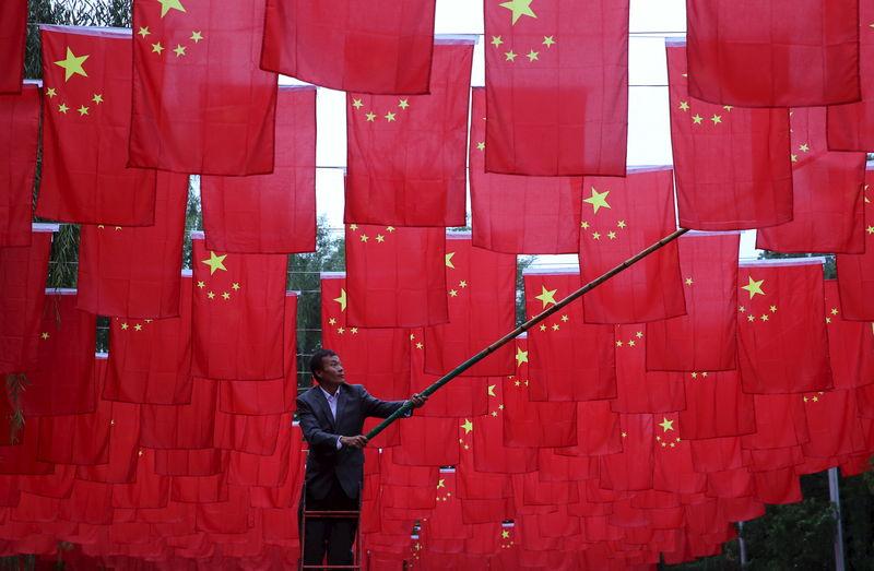 © Reuters.  Índice acionário de blue-chips da China tem pior sessão em 3 meses após dados fracos
