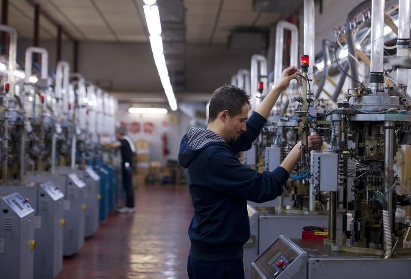 © Reuters.  Produkcja przemysłowa w USA w II +0,1 proc. mdm, a przetwórstwo -0,4 proc. mdm (aktl.)