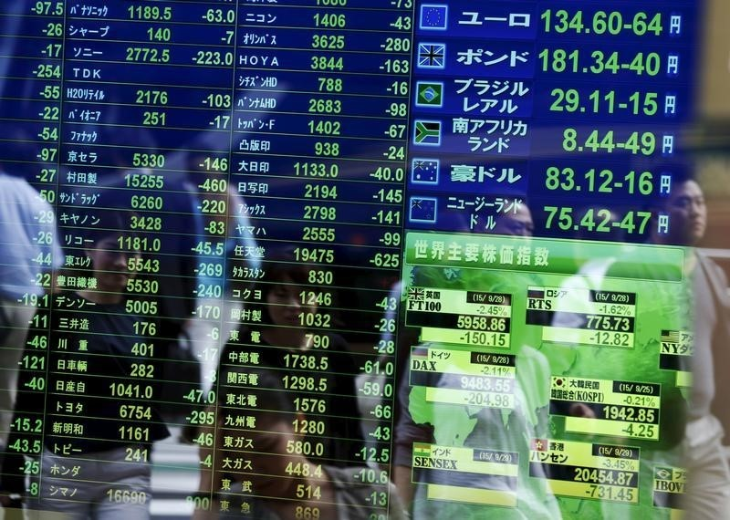 © Reuters.  Asian equities extended their gains in afternoon trade on Thursday