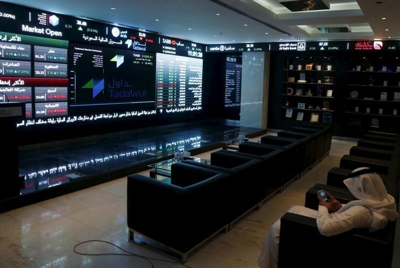 © Reuters. Saudi Arabia stocks higher at close of trade; Tadawul All Share up 0.70%