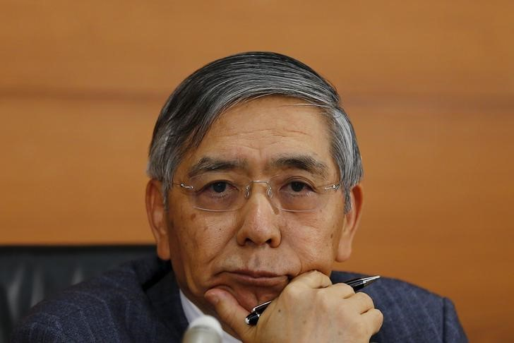© Reuters.  Kuroda Is on Course to Shrink the Bank of Japan's Bond Holdings