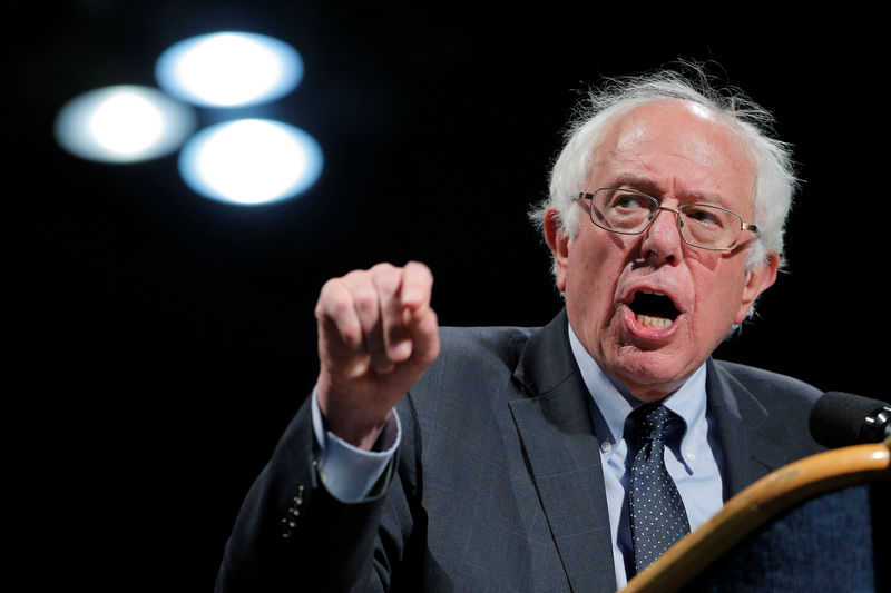 © Reuters. Bernie Sanders's Rise Sparks Re-Evaluation by Detractors on Wall Street