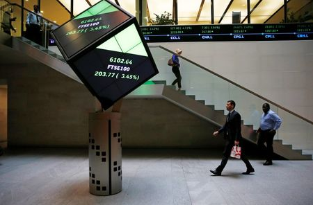 U.K. shares lower at close of trade; Investing.com United Kingdom 100 down 0.44%