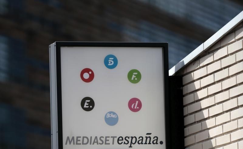 © Reuters.  Mediaset gana 53,2 millones hasta marzo, el 12,2 % menos
