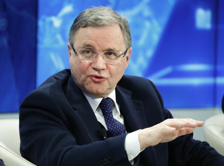 © Reuters.  Visco: rischio uscita Italia da euro non esiste, ma mercati non la pensano cosi'