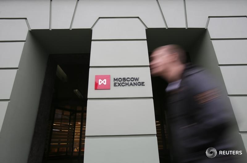© Reuters.  Russia shares higher at close of trade; MOEX Russia up 0.08%