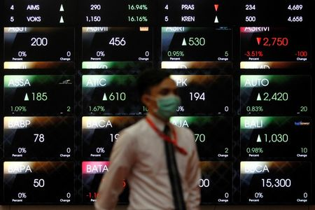 Indonesia shares lower at close of trade; Jakarta Stock Exchange Composite down 0.34%