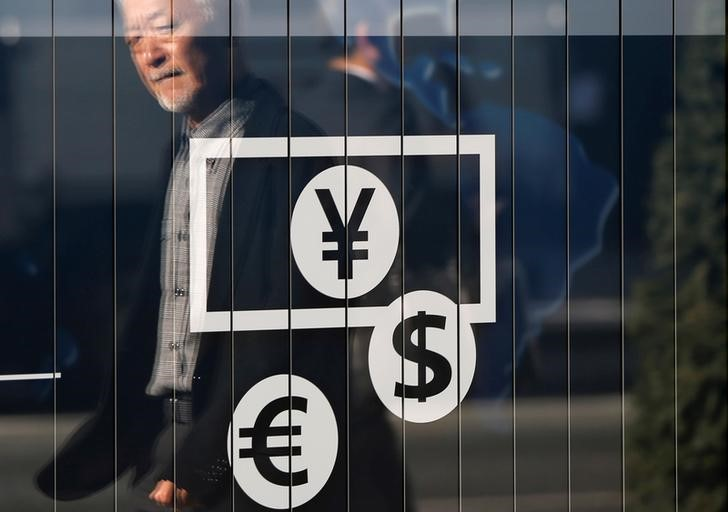 © Reuters.  Dollar dips against yen; sterling at 1-year highs