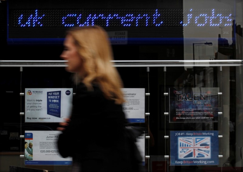© Reuters.  UK unemployment rate 4.2%, wage growth picks up