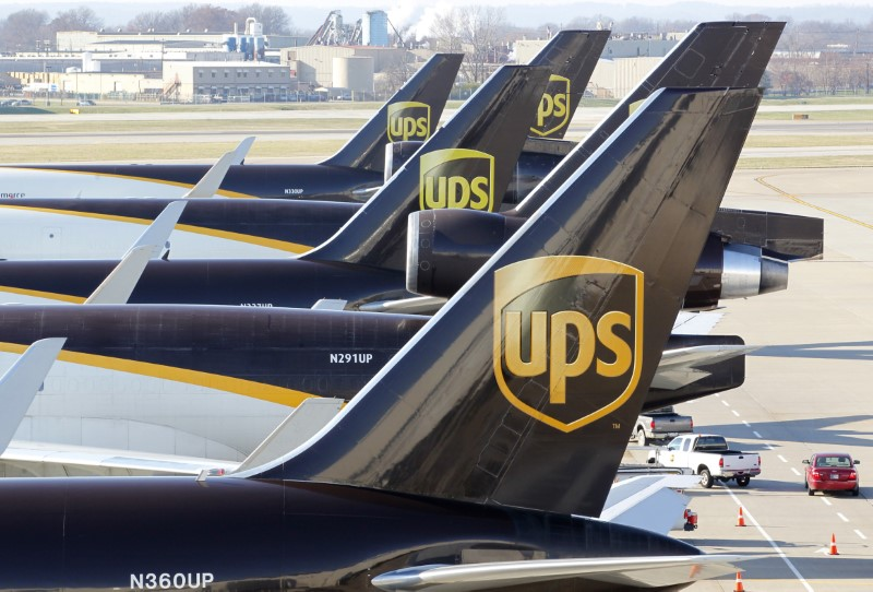 © Reuters. United Parcel Service Earnings inline, Revenue Misses In Q4