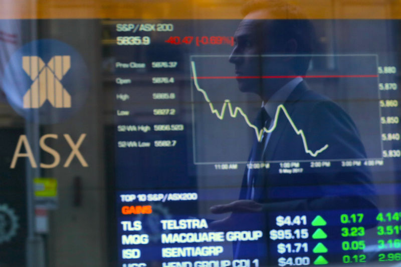 © Reuters.  Australia stocks lower at close of trade; S&P/ASX 200 down 1.26%