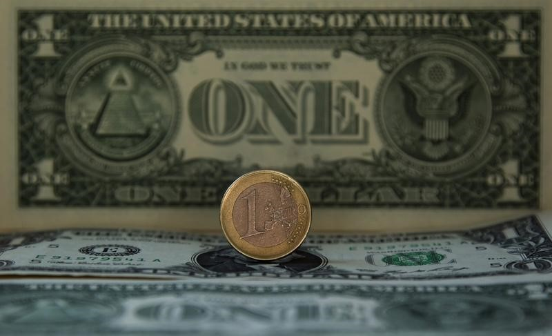 © Reuters.  Dollar, euro steady in rangebound trade ahead of Fed, ECB