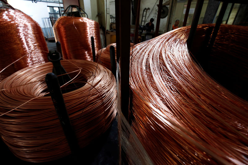 © Reuters.  Metals prices fell on Tuesday.