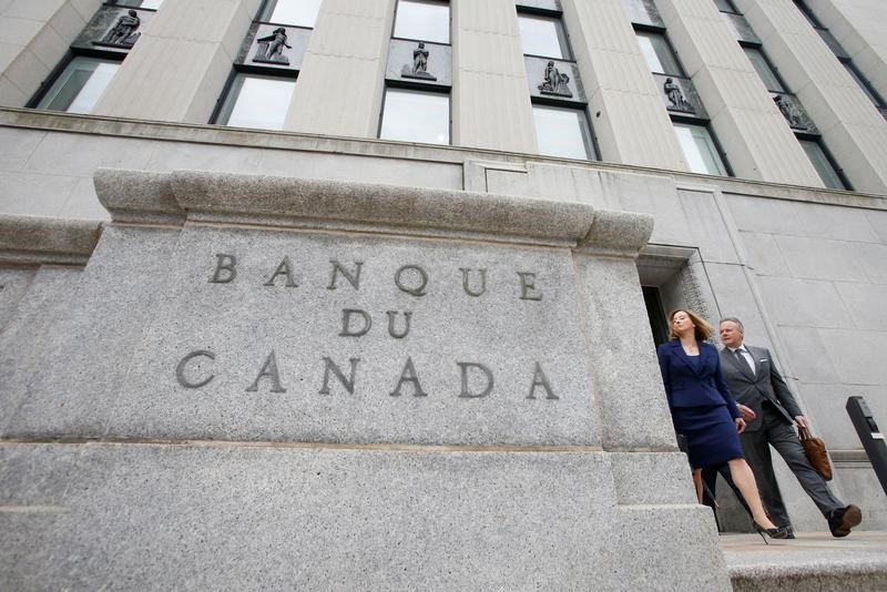 © Reuters.  Bank of Canada holds rates steady, remains cautious