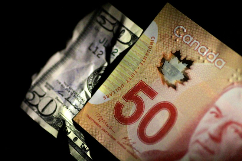 © Reuters.  Greenback drops against loonie in early trade