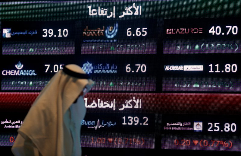 © Reuters.  Saudi Arabia stocks lower at close of trade; Tadawul All Share down 0.18%
