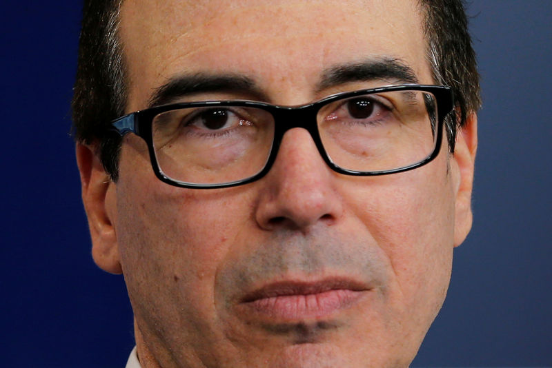 © Reuters.  Mnuchin Says No Change to U.S. Dollar Policy 'As of Now'