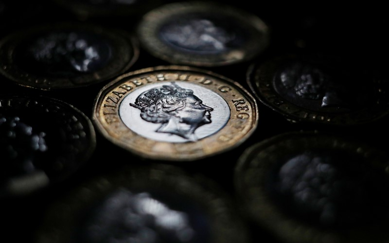© Reuters.  Sterling hits day's highs on upbeat UK retail sales data