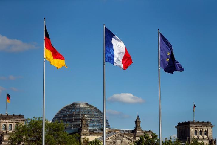 © Reuters.  DZIEŃ NA RYNKACH: Giełdy w Europie rosną, w górę spółki finansowe