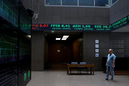 Grécia - Ações fecharam o pregão em queda e o Índice Athens General Composite recuou 0,16%