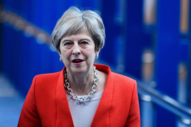 © Reuters.  Brexit: scontro tra banche UK e quelle Usa con May in difficoltà