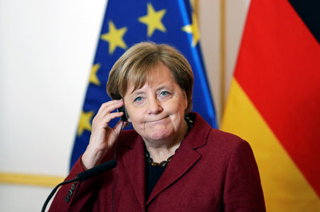 Merkel Puts First Crack in Her Opposition to Fiscal Stimulus