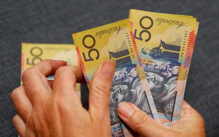 호주달러/달러, 고용지표 호조에 장중 저점서 0.4% 반등