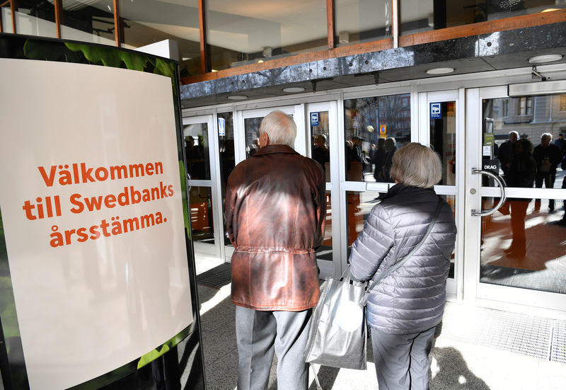 © Reuters. Estonian FSA says found signs of criminal offense in Swedbank AML inspection