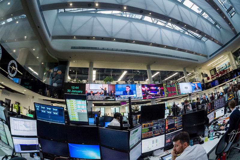 مؤشرات الأسهم في روسيا هبطت عند نهاية جلسة اليوم؛ مؤشر بورصة موسكو تراجع نحو 0.40%