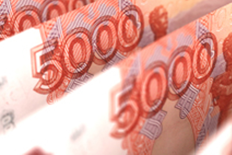 Rouble sharply lower amid selloff in Russian markets