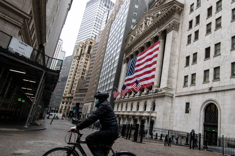 © Reuters U.S. stocks mixed at close of trade; Dow Jones Industrial Average up 0.13%