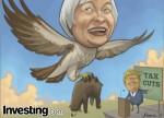 الكاريكاتير الأسبوعي: الأسواق تتابع اللغة الصقورية ليالين وخطة ترامب للإصلاح الضريبي