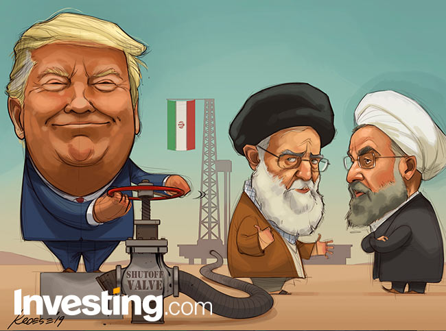 Image result for trump putting pressure on iran cartoon