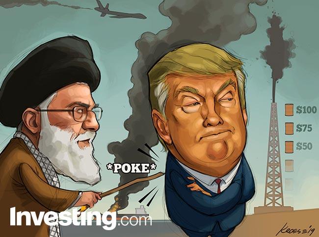 Strip: Trump legt grootayatollah Khamenei sancties op na neerhalen van drone