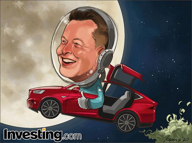 Caricature : Le rallye de l'action Tesla déclenche un énorme bonus pou