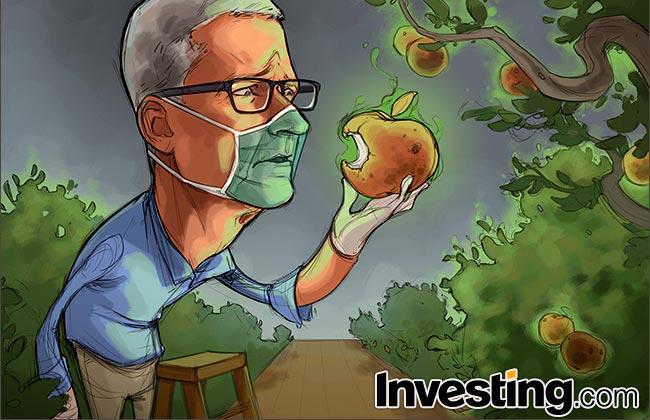 CHARGE: Mercados de ações minimizam alerta da Apple de impacto do coronavírus
