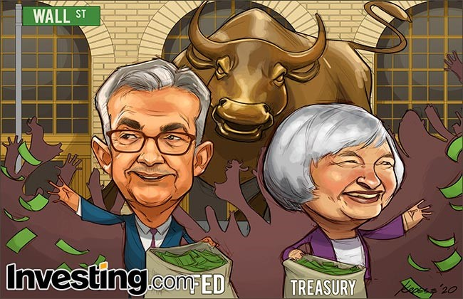 Comic: Stimulus Hopes Boost S&P 500, Nasdaq To Best Month In Years