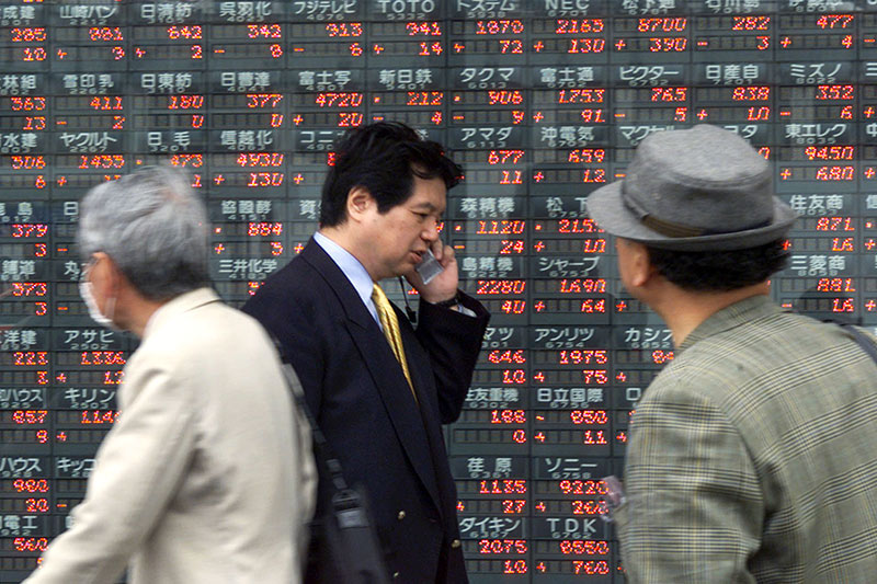 Asian equities traded higher in morning trade on Monday