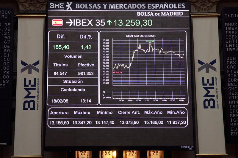 La Bolsa española mantiene un rebote del 0,58 % tras la apertura