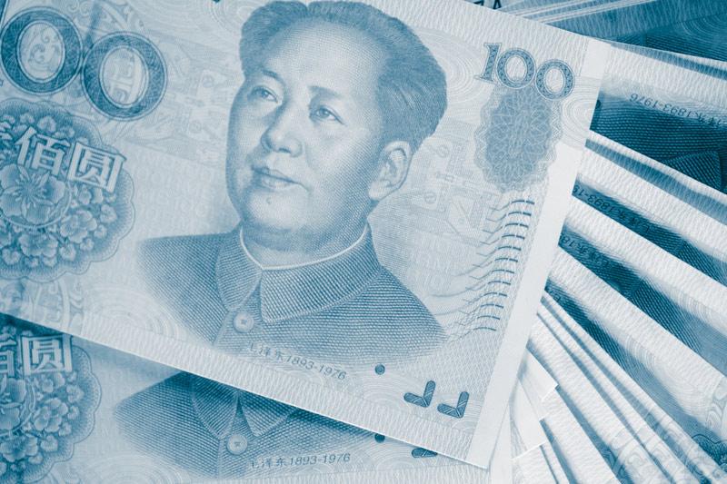 Forex - Yuan fällt auf schwache Inflation; USD steigt trotz Minus im Einzelhandel